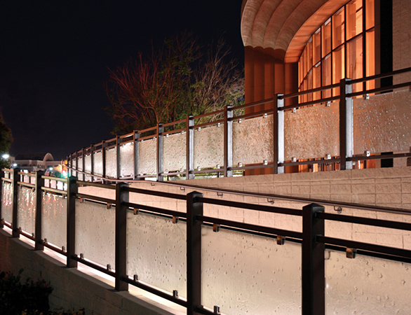 Exterior Handrail Inserts at Chandler Center for the Arts in Chandler, AZ.