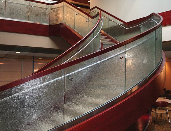 Glass Handrail at Palos Community Hospital in Palos Heights, IL.