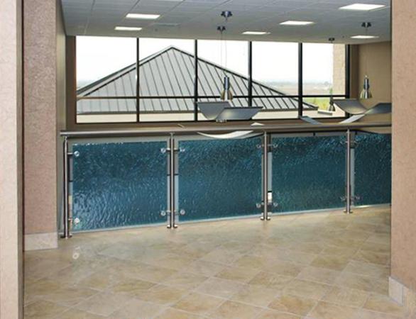 Glass Handrail Inserts at Seton Williamson Medical Group in Austin, TX.