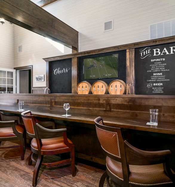 Residents can spend time with family, socialize and can enjoy a daily happy hour at the tavern when allowed by a physician.