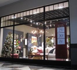 metal boutique Ballard Designs mall line storefront