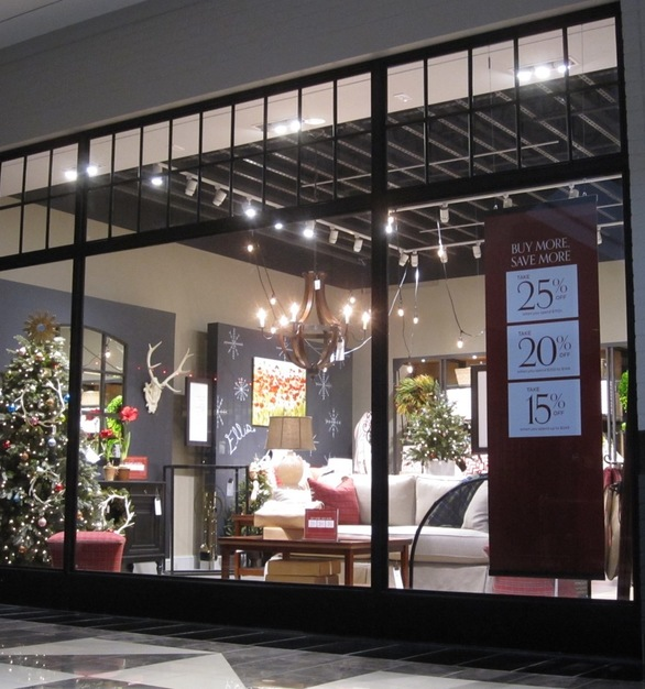 """The Mall-Line 1530 Series Interior Steel Storefront System features 3"""" sightline with varying system depths based on design aesthetic and storefront span."""