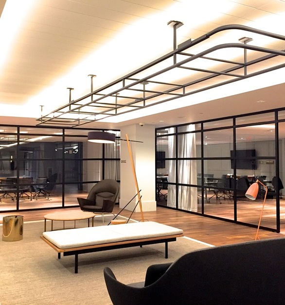 """The Metal Boutique Slim-Line 2200 Series Interior steel storefront features a sleek 2"""" with matching 2"""" depth."""