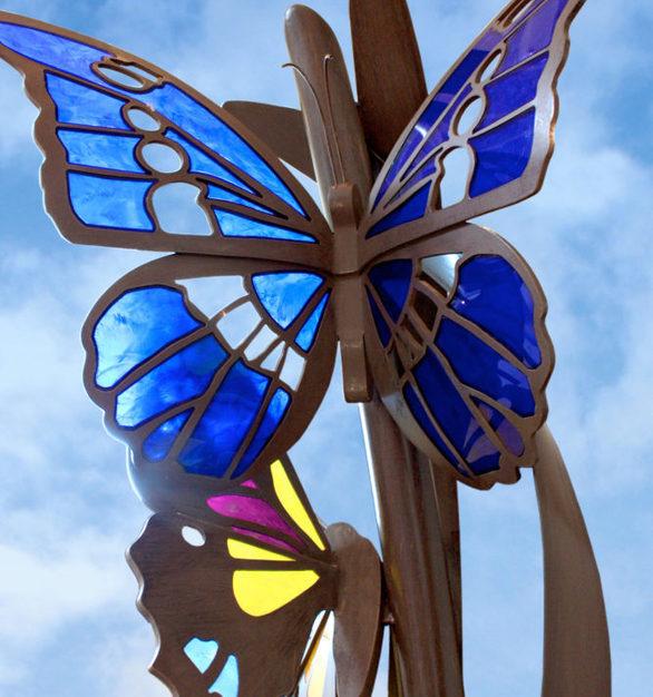 Transcending Butterfly Sculpture created by Plazcek Studios.