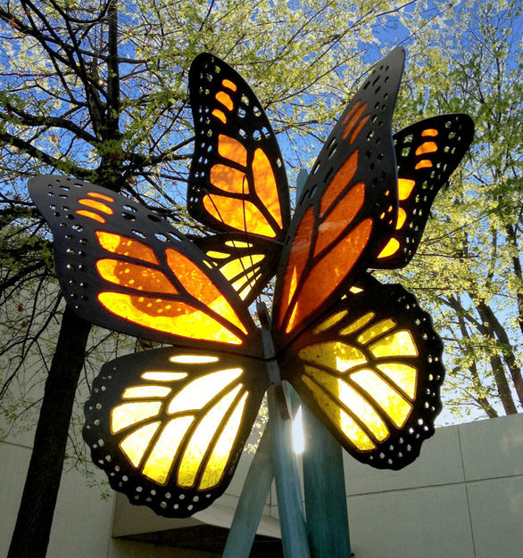 Tranquility Butterly Sculpture shown here created by Placzek Studios.