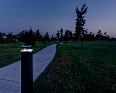 Located in Spring, Texas, these SP-010 lights illuminate this path using efficiency and quality.