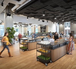 Meteor Lighting Netflix Cue Eatery and Office Cafeteria Design