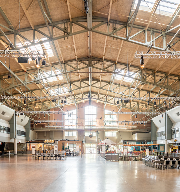 The Seattle Center Armory is a mixed-use space for Seattle's many community festivals, cultural celebrations, and activities.