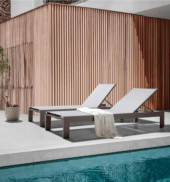 The sleek and comfortable Miami lounger, made by MEF Contract, is made specifically for a beachside feel resort.