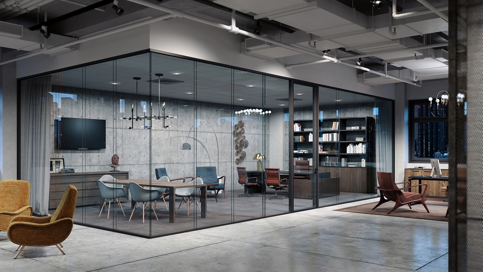 Up your interior office space with Lama glass systems by Modernus.