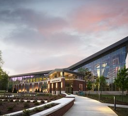 Moody nolan jacksonville state university recreation and fitness center modern exterior design glass curtain wall