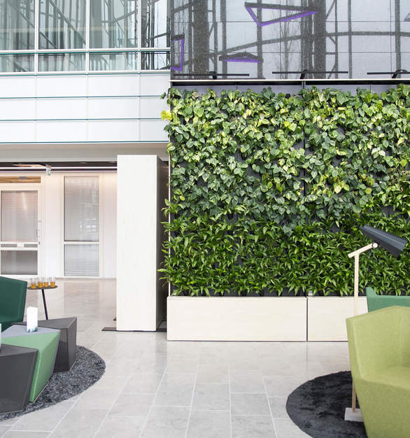 Naava One Slim is secured to a wall and can be integrated as a part of the surrounding space.