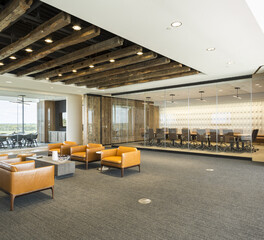 NanaWall PrivaSEE Dairy Farmers of America Office Seating Area Boardroom Frameless Sliding Glass Closed