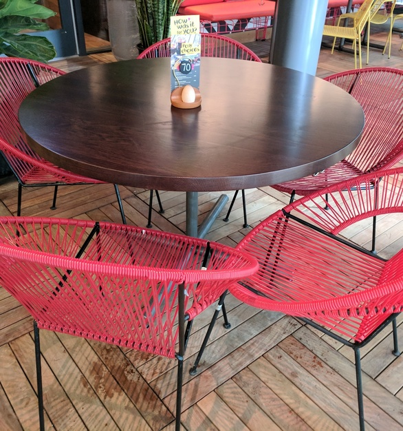 Enjoy dining out on the patio with these outdoor patio tables designed by i2i Designs.