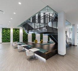 Natura Kubota north america headquarters work lounge