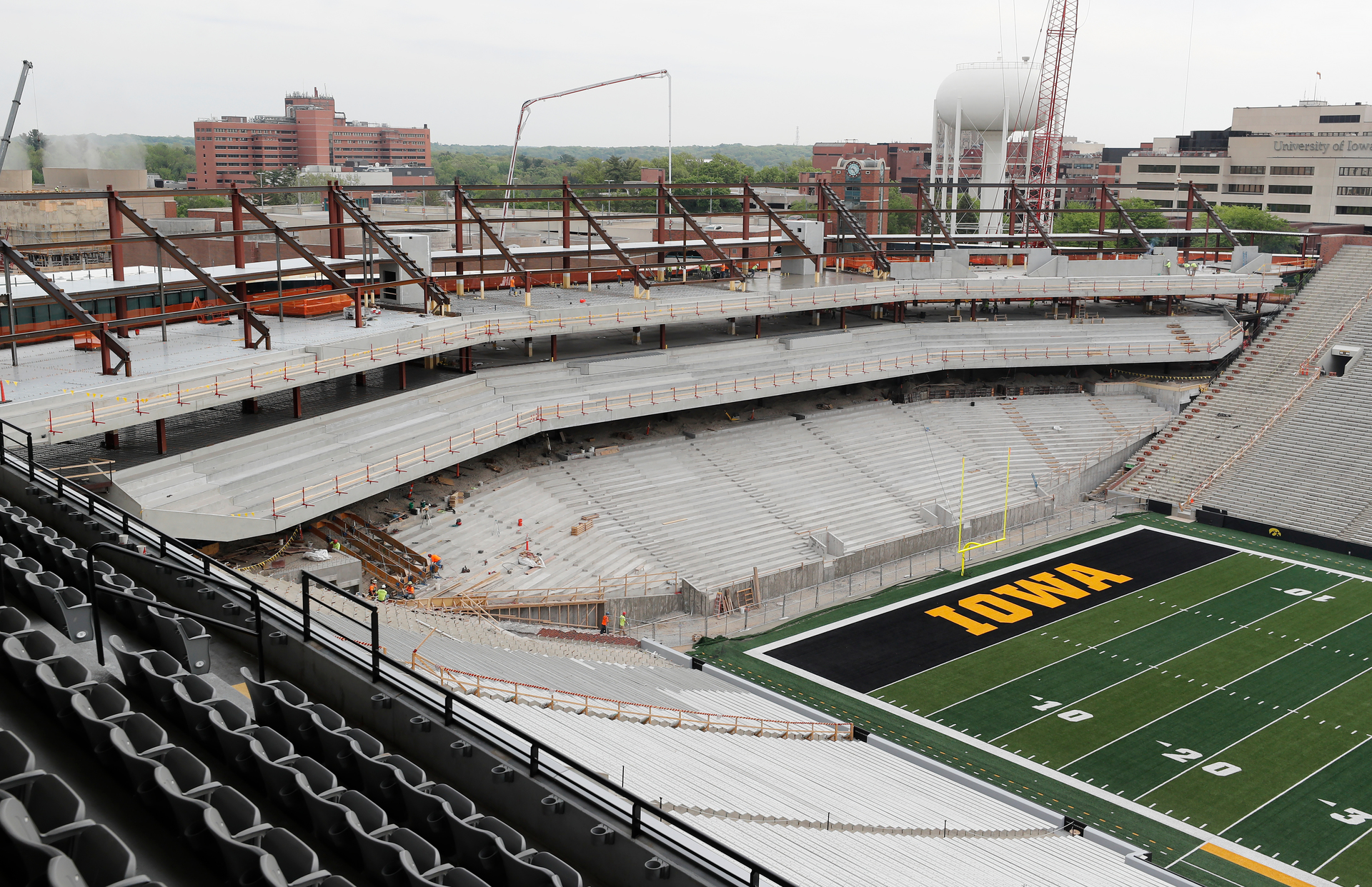 A look at the construction of the new north end zone of Kinnick Stadium, the University of Iowa's home turf since 1929. Photography by