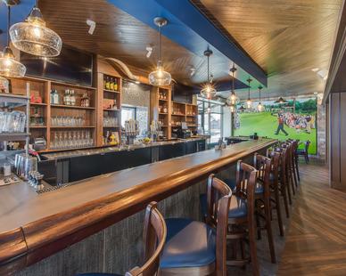 Bar at the North Shore Inn in Benton Harbor, Michigan.