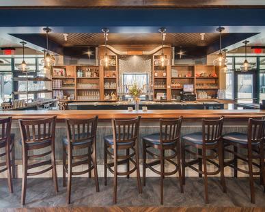 Bar area at the North Shore Inn in Benton Harbor, Michigan.