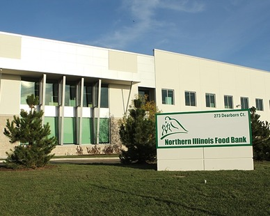Founded in 1983, The Northern Illinois Food Bank had outgrown their facility and was ready to expand. The new Food Distribution and Community Nutrition Center was designed to store and distribute even more food and develop even more programs.