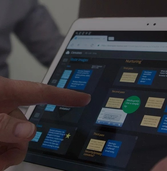Span Workspace is designed so team members can work together at the same time – whether they're standing at a large multitouch display or using their own devices. It's that easy.