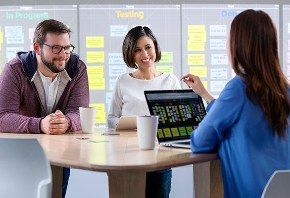 Turn your go-to templates digital and then use familiar sticky notes to track tasks. Collaborate on the multitouch Nureva™ Wall or from your own device. Going digital has never been so simple.
