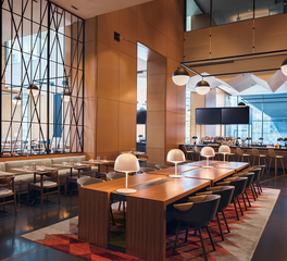 OCL Architectural Lighting Marriott Marquis Chicago Restaurant Seating Bar Area Lighting