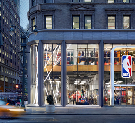 OCL Architectural Lighting NBA Store 5th Avenue New York