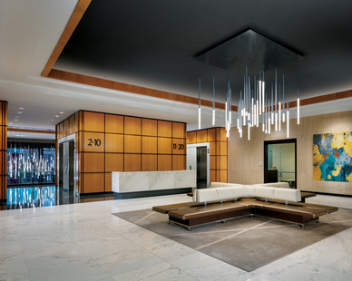 Here's a fantastic look at our GlowStick™ Cluster at One Buckhead Plaza in Atlanta - often referred to as