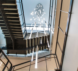 OCL Architectural Lighting Sauk Trails Plaza II NSI Offices Stairway Lighting