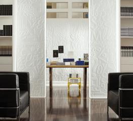 Office Decorative Ceiling Tiles MirroFlex Alphabet Soup Paintable
