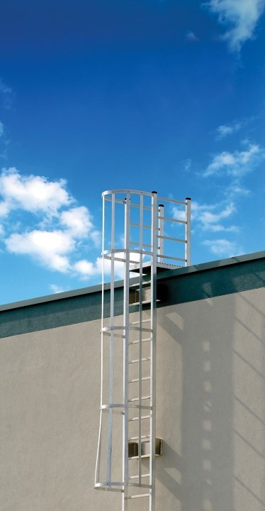 O'Keeffe's Model 531 Cage Ladder is one of their most standard cage ladders available which includes all stainless steel hardware.