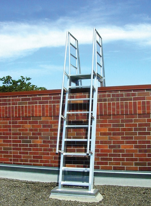 Shown here is O'Keeffe's Model 522 Ship Ladder which is known for being among the sturdiest in the market.