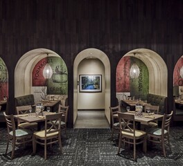 Olive Garden, ASI, Interwoven Eco-Panels, Wood Panels