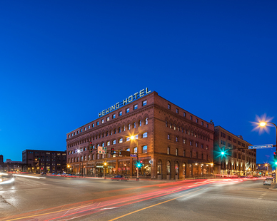 The historic Jackson Building on Washington Avenue in downtown Minneapolis was converted to a Nordic-influenced, luxury hotel that is authentically Minnesotan.