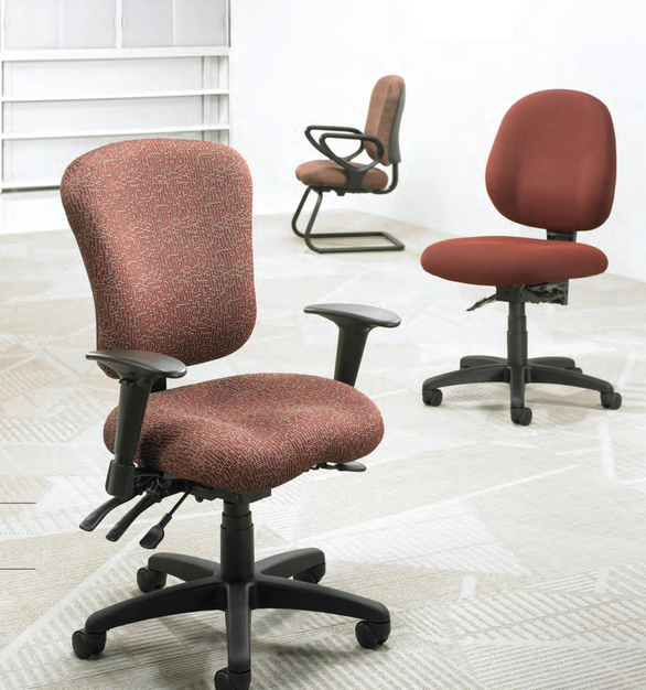 The Patriot Series by OM Smart Seating, features low, mid, and high back availability to accommodate a range of body types.