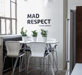 OM Smart Seating Mortarr Modern Breakroom Cafe Table