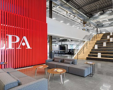 LPA Irvine Office Headquarters located in Irvine, CA featuring lighting products by Acuity Brands - A-Light. Project in collaboration with LPA, Inc. and Acuity Brands agent Performance Lighting. 