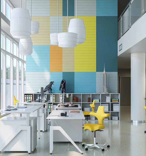 9to5 Seating's HÅG CAPISCO comes in so many different colors, seen here in an open office environment.