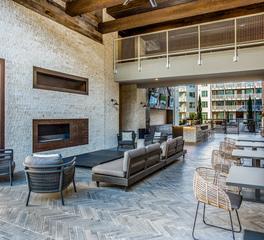 Outdoor Lounge Courtyard Hensley Lamkin Sloane St Carrollton TX