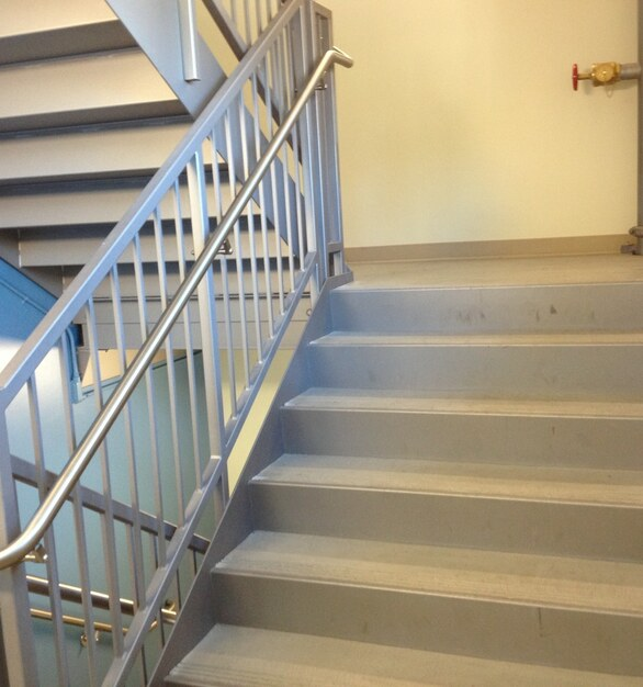 Pacific Stair Corporation featured the picket rail with quality tube steel frame, equally spaces infill square bar pickets, and a continuous hand grab.