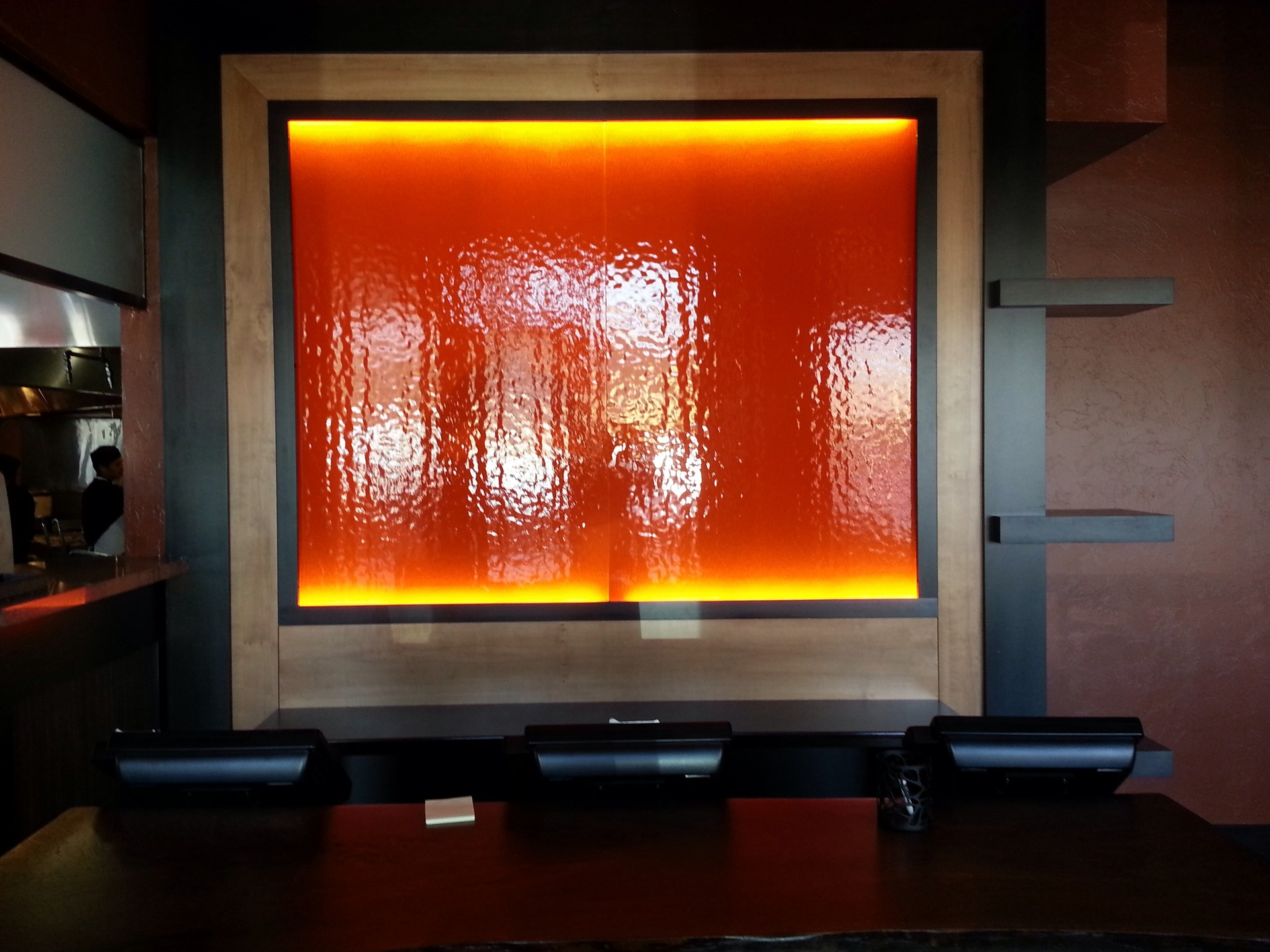 Denver Glass Interiors offer a tantalizing palette for your choice of color and pattern. We offer simple, one-color painted glass or glass painted with metallic flakes, pearls, stripes, dots, designs, or logos. Whether the item is large or small, DGI measures, cuts, paints, and installs back-painted glass to your exact specifications.