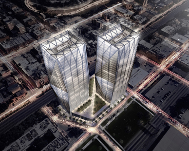 These twin towers will consist of both offices and a retail podium, targeting large corporate tenants, by PALMA.