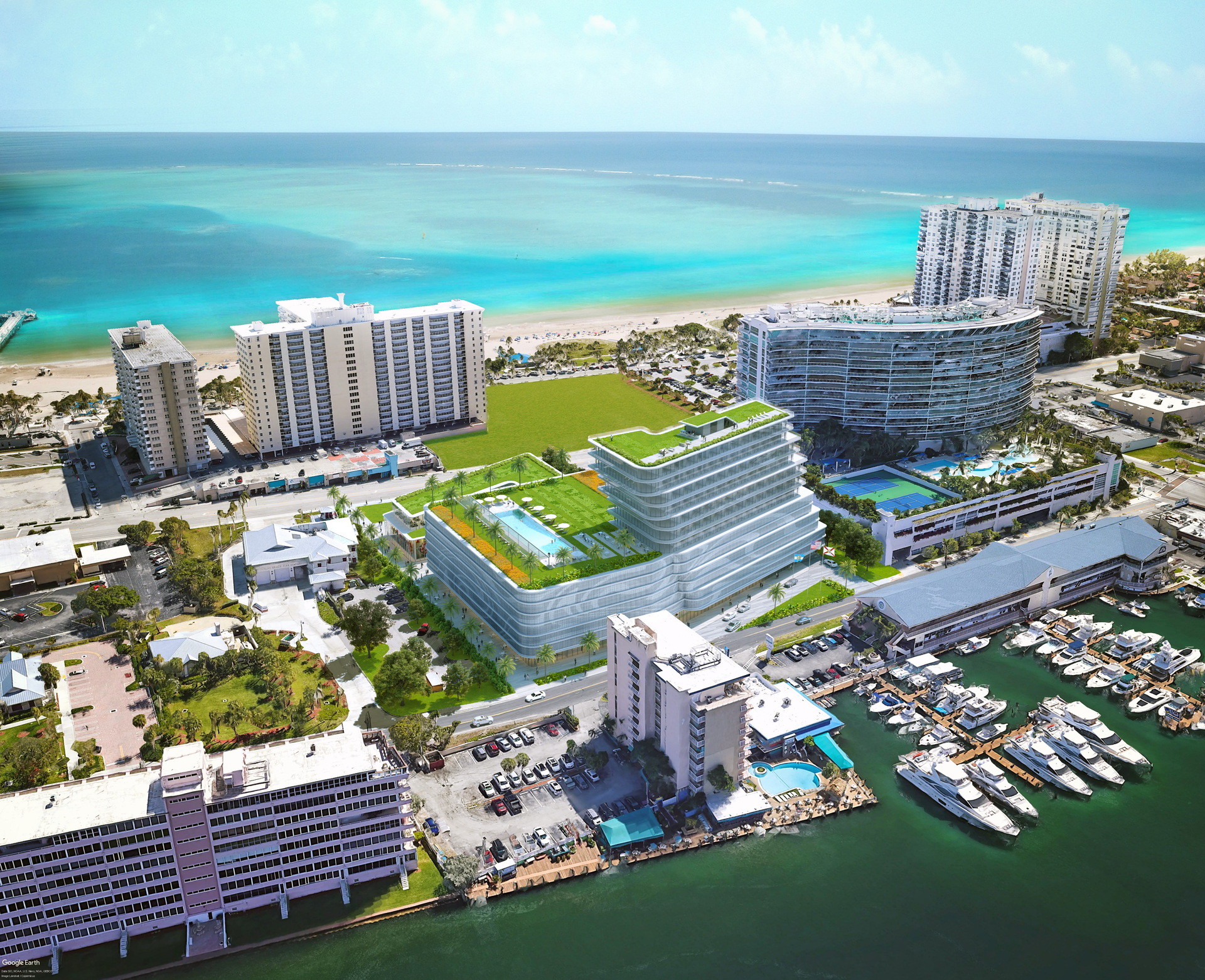 New hotel development in South Florida.