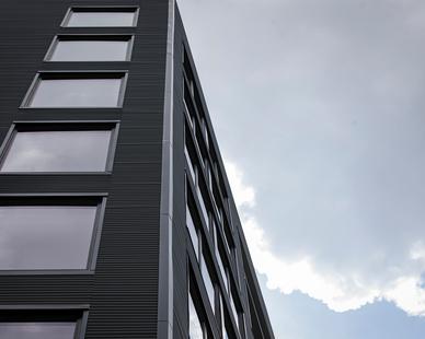 Pella Impervia Fixed Frame Windows on Star Metals Atlanta Apartment Complex