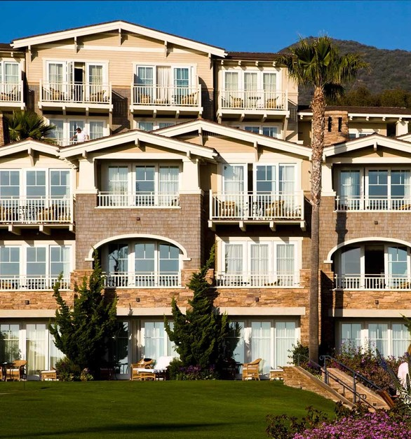 The exterior design of Montage Laguna Beach incorporates Architect Series products from Pella Windows and Doors for their windows and door needs.