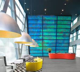 Pfuner Design Eclectic Office Lobby Design