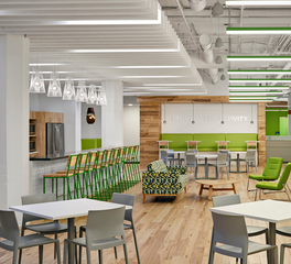 Pioneer Millworks Enel Green Power Interior 2 Break Room Seating Area