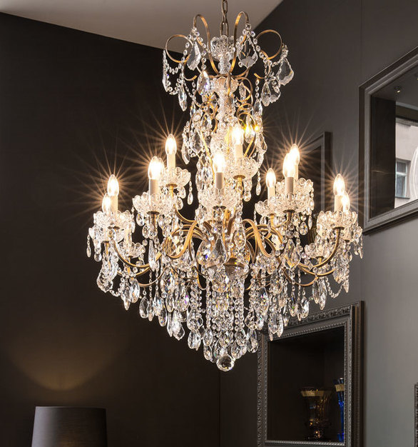 Elegant Schonbek Chandelier by Swarocski Lighting