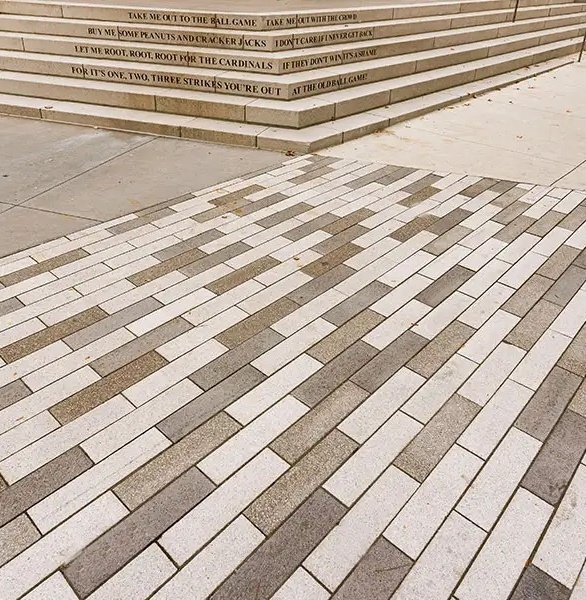 Wausau Tile's Expressions architectural paver series consists of a soft palette of colors, made by coloring the cement matrix with small to medium sized aggregate. These strong, economical pavers feature a uniform, slip-resistant surface.