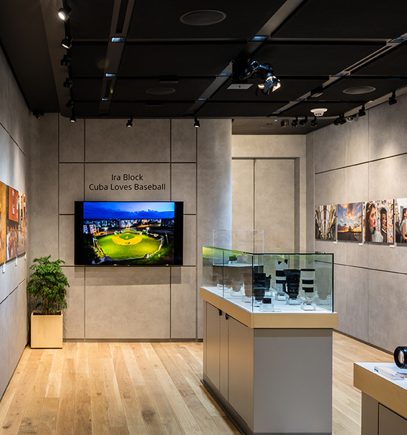 The wall panels within thisSony Square retail locationare removable. This allows for storage which would not have been possible using true traditional cement.  Photography Credit:Brennan Photo & Video
